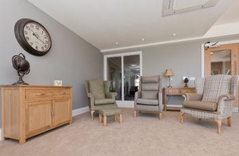 Capstone Care Walshaw Hall – communal lounge area
