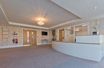 Capstone Care Walshaw Hall – reception area