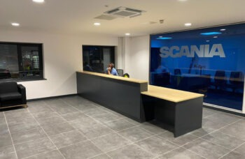 Preston Scania centre completed new service centre features seven 28-metre workshop bays